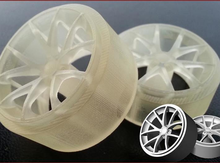 Front Corvette Spyder Wheel 3d printed Frosted Ultra Detail 3D Print