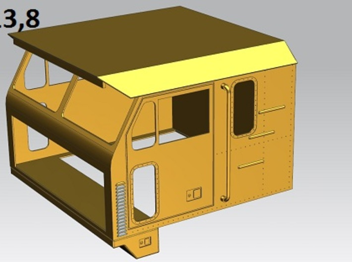 Oshkosh-cab--1to13 8 3d printed Oshkosh M1070F cab (Scale 1:13,8)