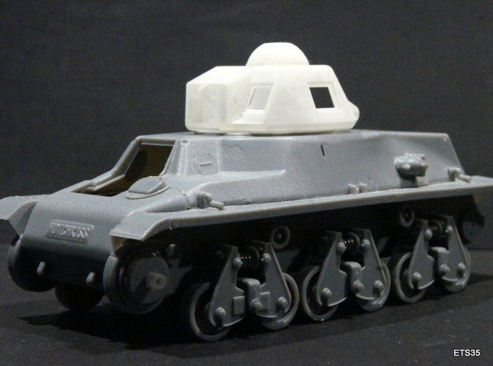 ETS35017 - APX-R turret with SA18 gun [1:35] 3d printed ETS35 turret