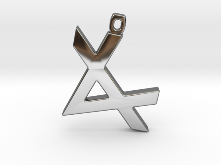 Letter ALEPH - Paleo Hebrew - With Chain Loop 3d printed
