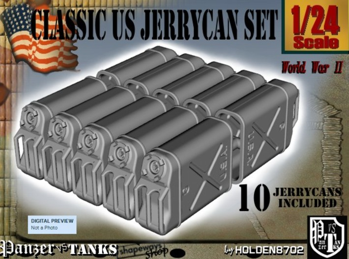 1-24 US Jerrycan TEN UNITS 3d printed