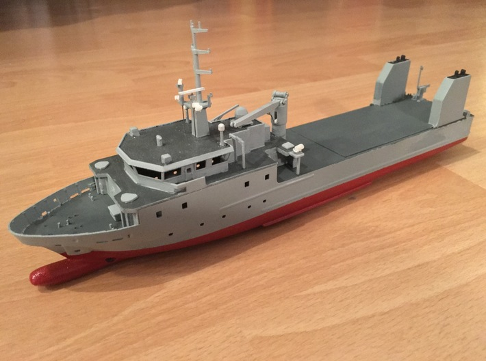Rmah (A61), Superstructure (1:200) 3d printed assembled model