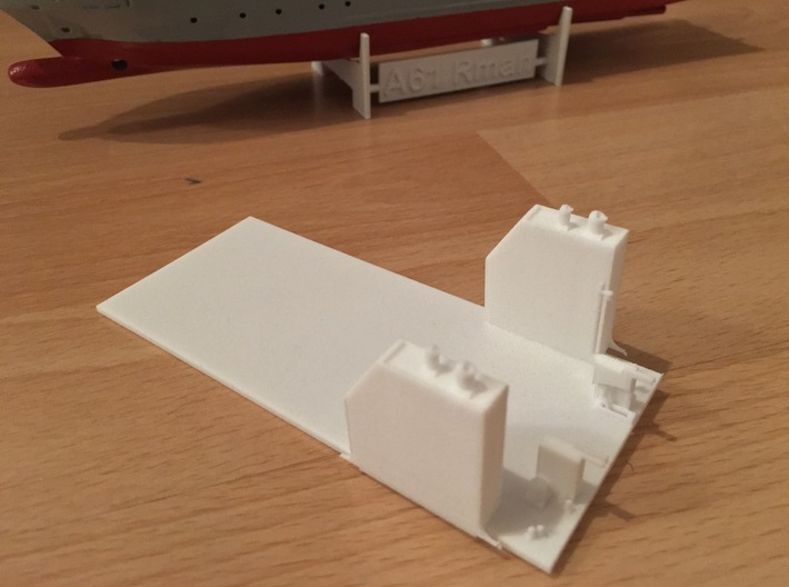 Rmah (A61), Deck (1:200 model) 3d printed printed part as it comes