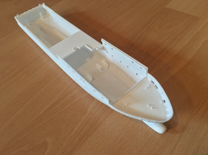 Rmah (A61), Hull (1:200) 3d printed hull as printed