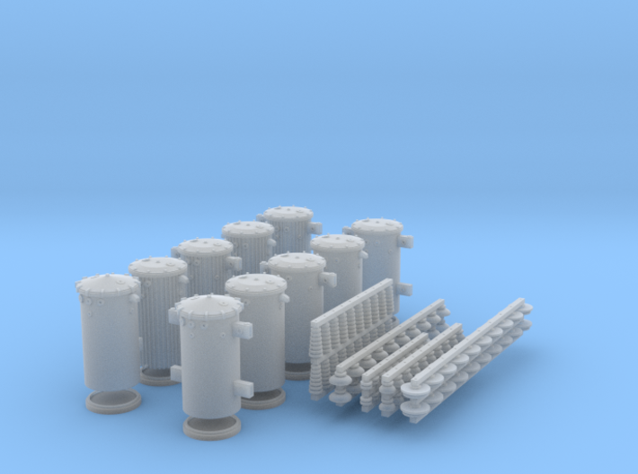 O scale Transformer Set with insulators 3d printed