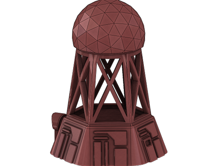 Radar Control Tower (Small Dome) 3d printed