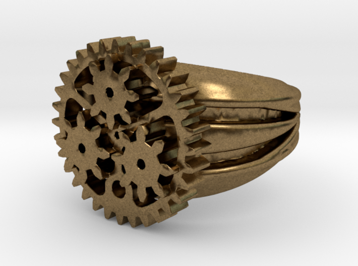 SteamPunk Ring ALFA 3d printed