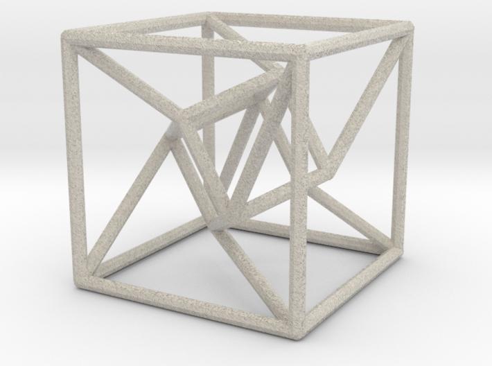超立方体.stl 3d printed