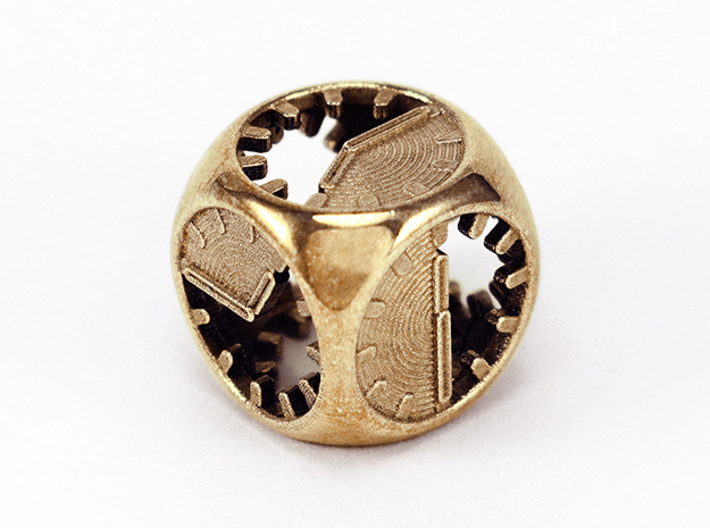 Tick Tock D6 3d printed Polished Brass