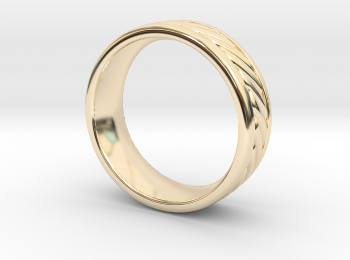 Nautical Rope Ring - size 11.5 3d printed