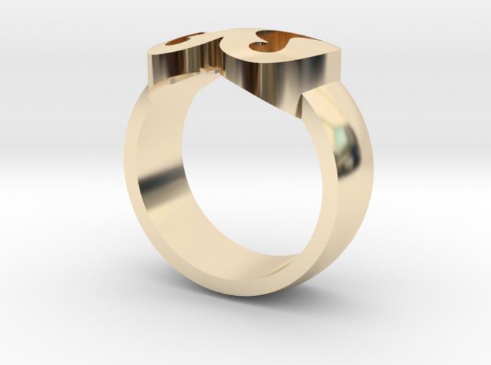 Adinkra Rings - Series 2: Nkonsonkonson 3d printed