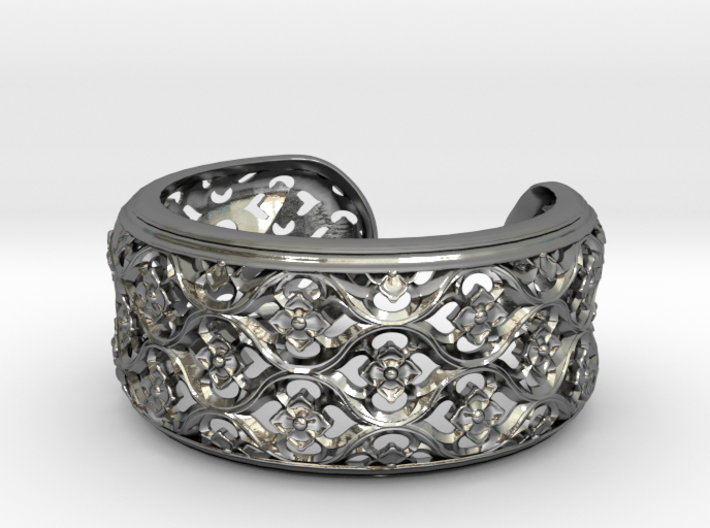 Gothic Bangle Small 3d printed