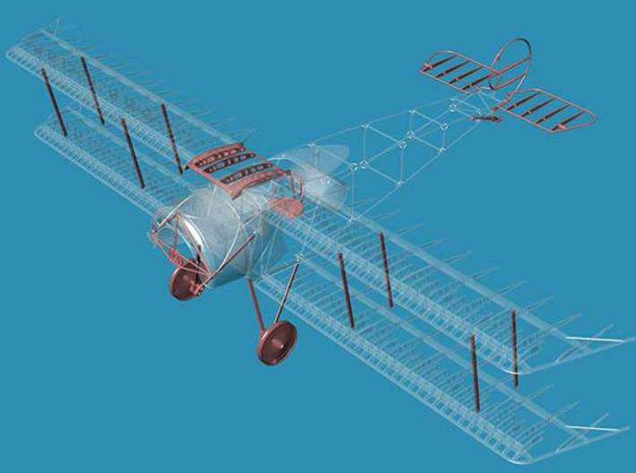 Fokker D.III A Accessories 1/32 3d printed includes parts shown in red only
