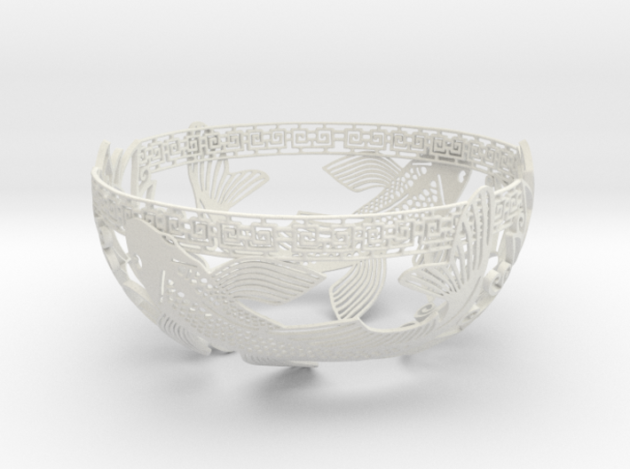 Decorative Koi Bowl 3d printed