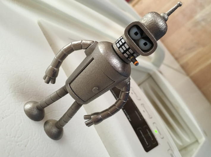 Bender Bending Rodriguez 3d printed Bender in Polished Nickel Steel