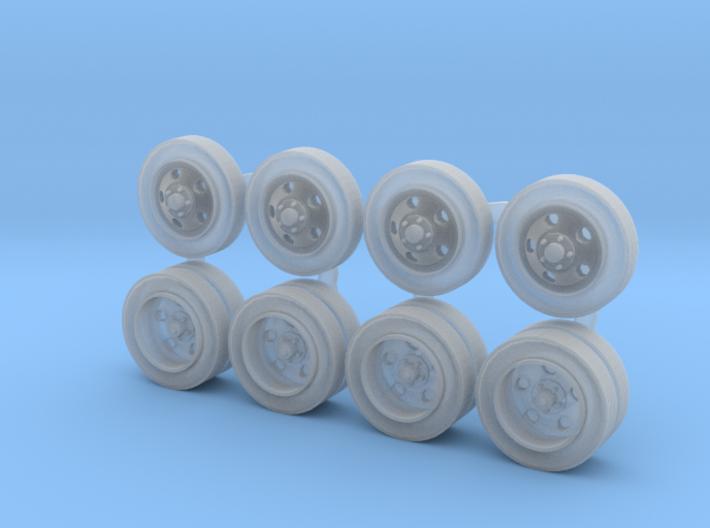 Five-hole Steel Wheels 3d printed