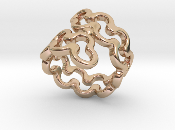 Jagged Ring 17 - Italian Size 17 3d printed