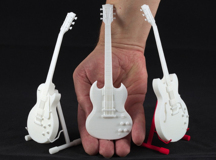 Gibson SG, Scale 1:6 3d printed Gibson SG with brothers and sisters
