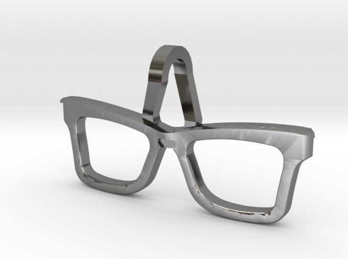 Hipster Glasses Pendant Origin 3d printed