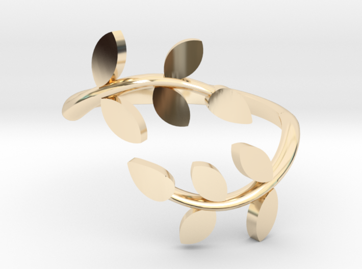 Vine Ring 3d printed