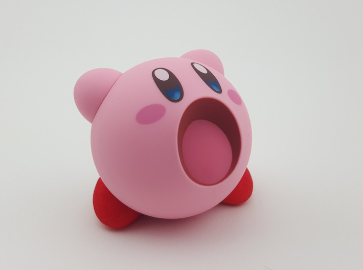 Nendoroid Kirby Extra Feet 3d printed Standing on his own two feet!