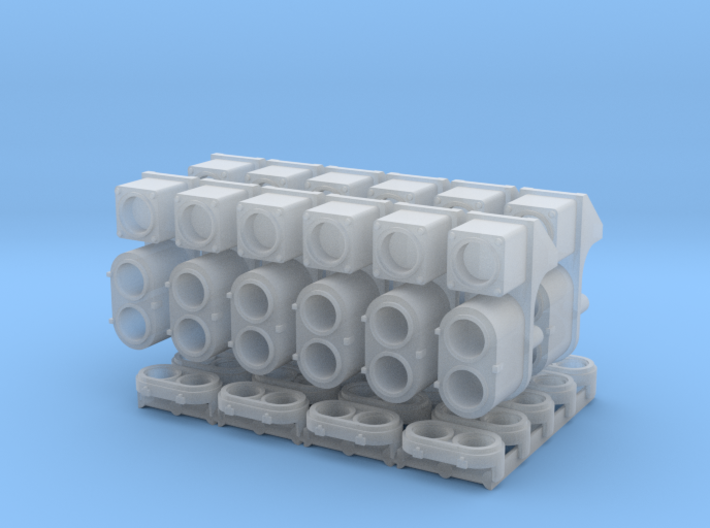 SP Cluster, Square UDE Combo Pack (N - 1:160) 3d printed