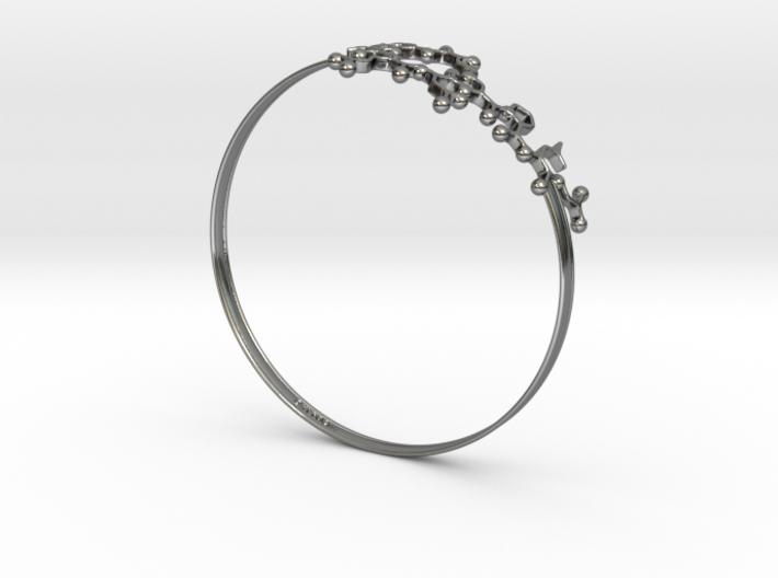 Oxytocin Bracelet 75mm Embossed 3d printed
