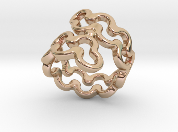Jagged Ring 23 - Italian Size 23 3d printed