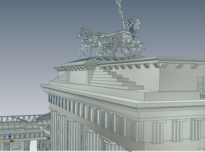 1-144 Brandenburg Isolated Gate Ruins 3d printed