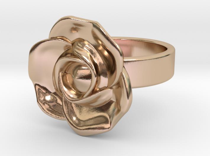 BlakOpal Rose Ring Size 8.5 3d printed