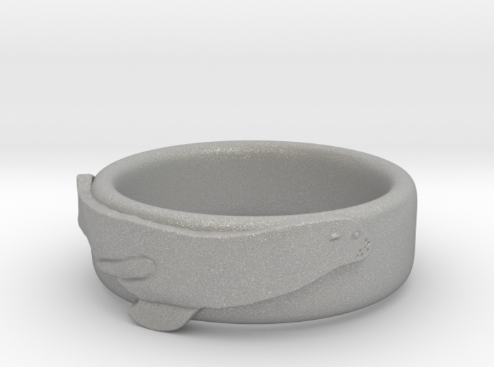 Sea Lion Ring - US Size 9 3d printed