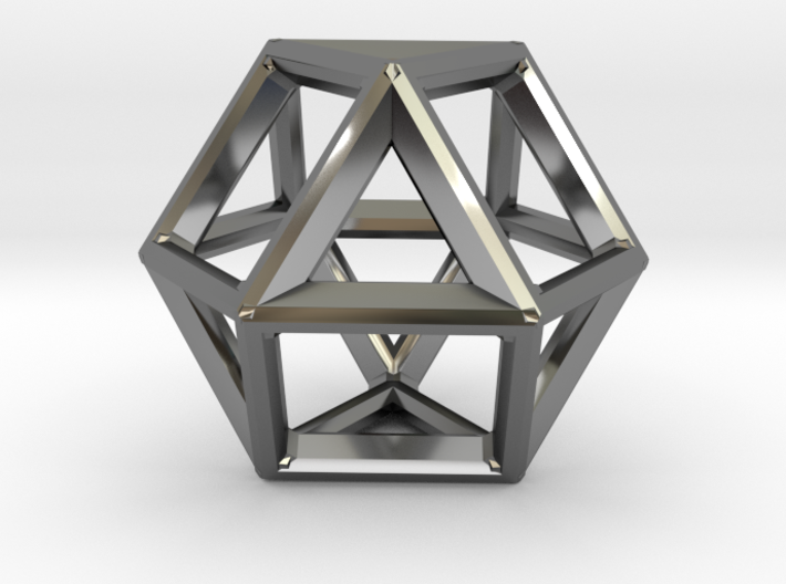 VECTOR EQUILIBRIUM FRAME 3d printed