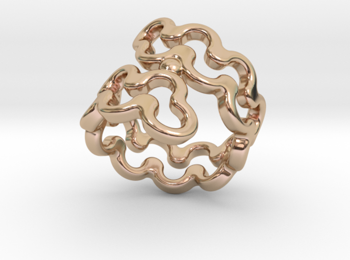 Jagged Ring 33 - Italian Size 33 3d printed