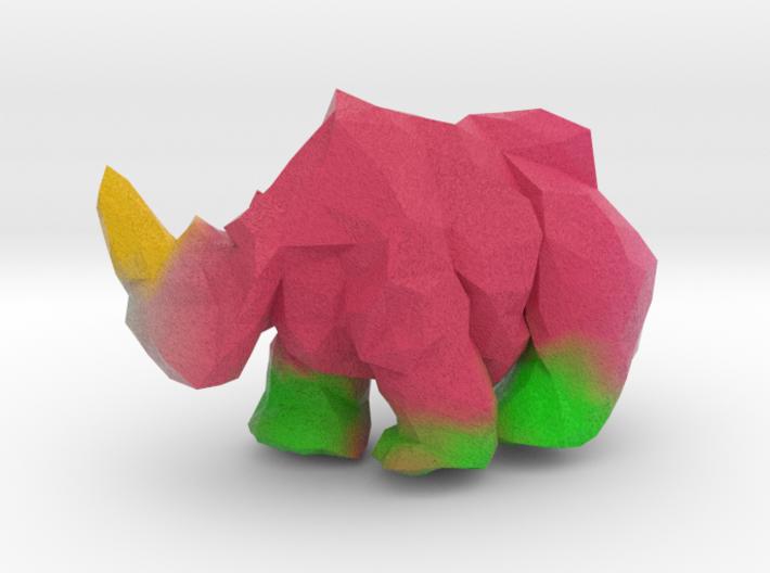 Lumber Rhino (2'' tall Painted) 3d printed