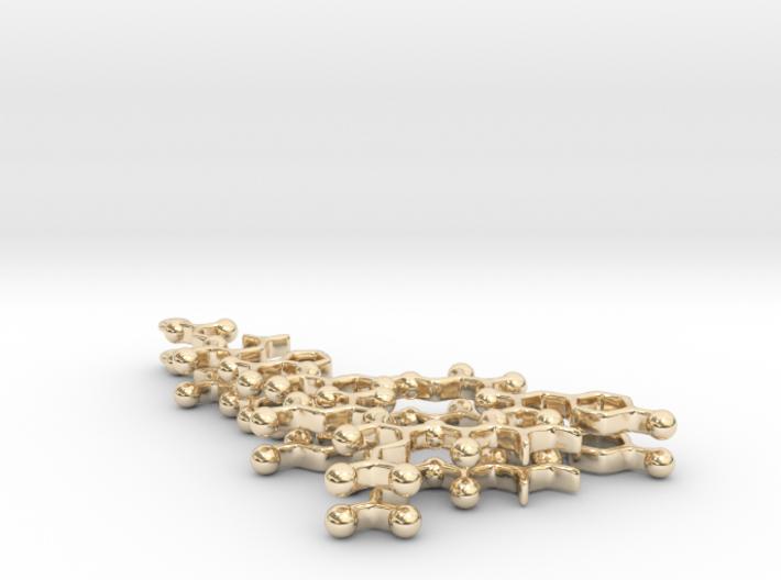 Oxytocin Earrings - Planar Version 3d printed