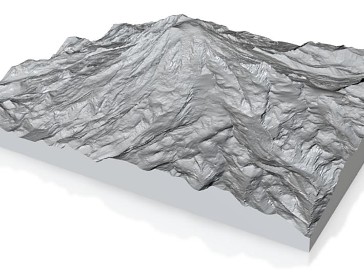 Model of Kautz Glacier 3d printed