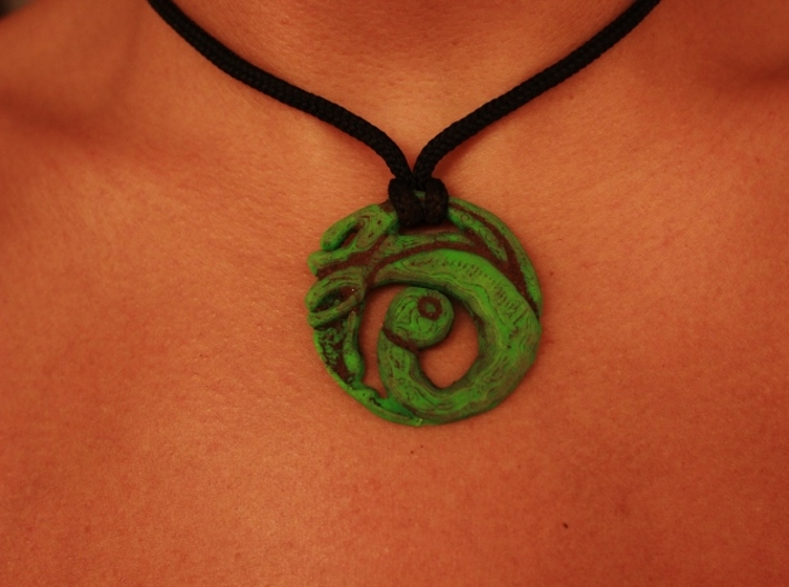 Lara Croft Necklace 3d printed Painted and dirty