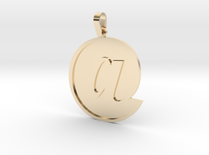 At Sign Letter Pendant Small 3d printed