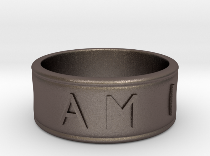 I AM | AM I Ring - size 8 3d printed