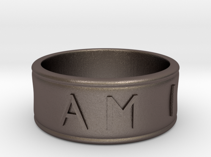 I AM | AM I Ring - Size 9 3d printed