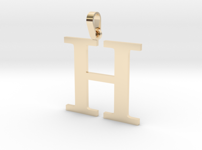 H Letter Pendant 3d printed