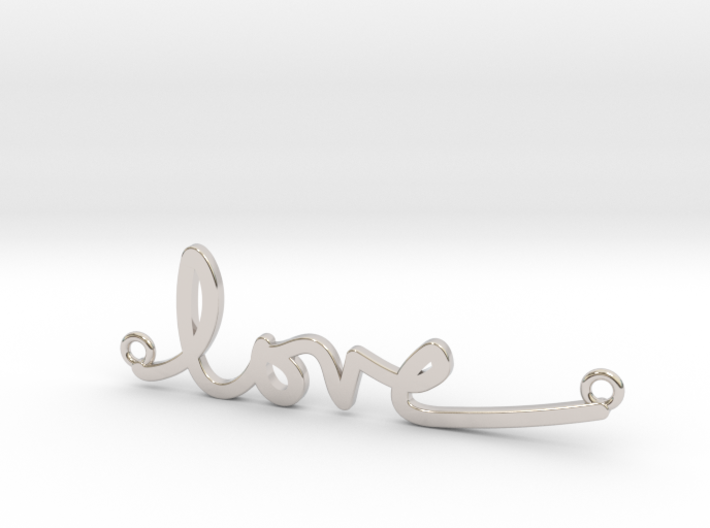 Love Handwriting Necklace 3d printed