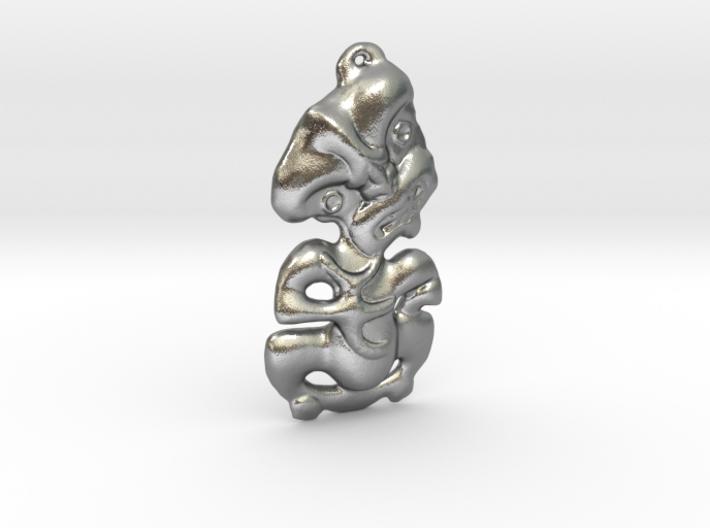 New Zealand Maori Tiki Pendant 3d printed