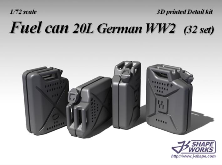 1/72 Fuel Can 20L German WW2 (32 set) 3d printed