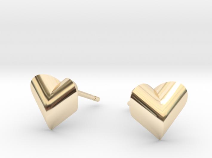 Heartpeach Earrings 3d printed