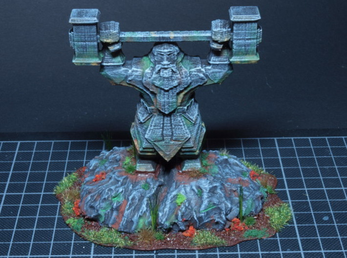 Dwarvon Paragon for Wargaming terrain 3d printed Smoothed, primed and painted for tabletop gaming