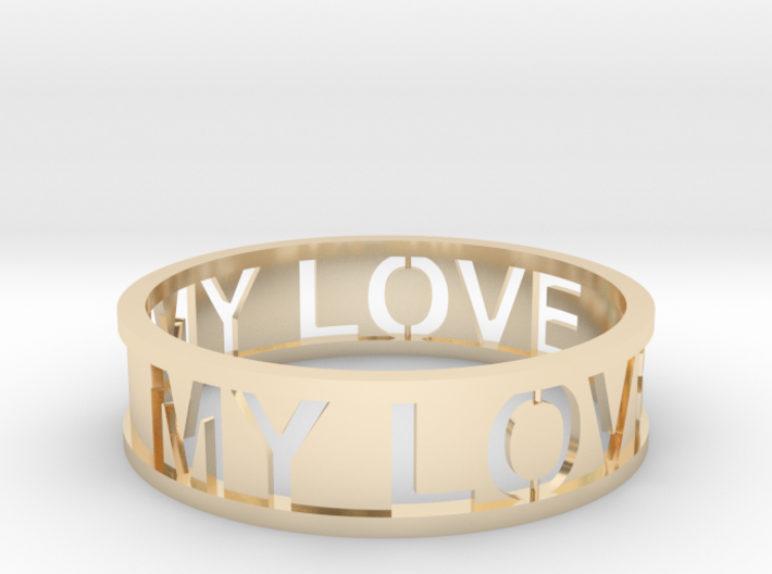 Bracelet my love 3d printed