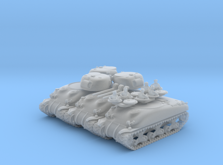 SHERMAN M4a1 (M34 Gun) TANK - (3 pack) 3d printed