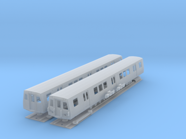 N Scale Washington DC Metro 7000 (2) 3d printed