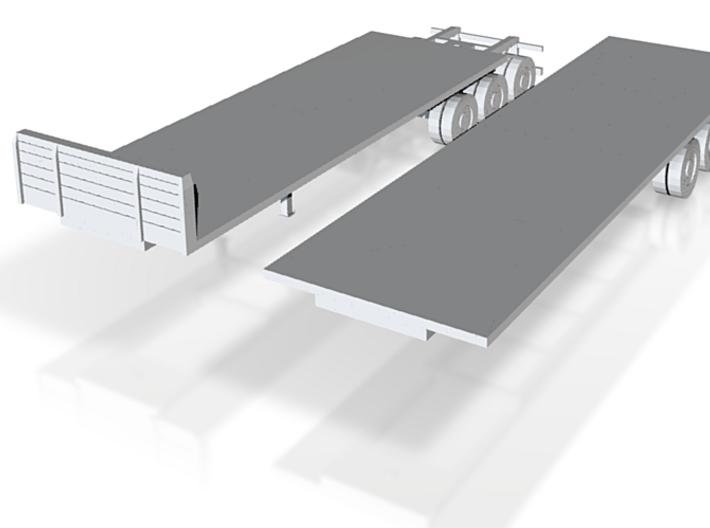 flat deck B-train 1:120 3d printed